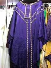 Violet Lichfield Brocade Chasuble & Maniple - Very Little Use!