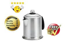 Farberware Classic Stainless Steel Yosemite Coffee Percolator Pot Cup Vintage !!