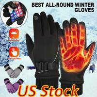 US Men Womens Winter Warm Skiing Gloves Touchscreen For Riding Outdoor Sports
