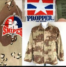Sniper Paintball Patch Brown Camo Camouflage BDU Jacket sz S Propper