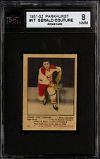 1951-52 PARKHURST HOCKEY #17 GERALD COUTURE ROOKIE CARD HIGH END KSA 8 NM-MT 8
