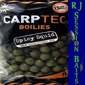 Dynamite Baits Spicy Squid 15mm Session Pack of 25 Boilies