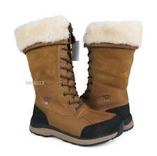 UGG Adirondack Tall III Chestnut Leather Fur Boots Womens Size 11 *NIB*