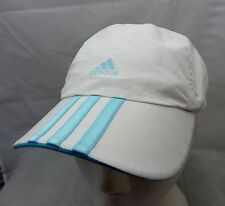 Adidas white running   cap hat adjustable buckle