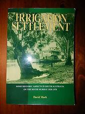 IRRIGATION SETTLEMENT  DAVID MACK