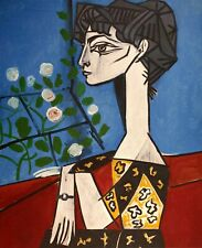 Pablo Picasso, Jacqueline with Flowers 1954, Hand Signed Lithograph
