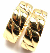 Rare! Authentic Cartier 18k Yellow Gold La Dona Hoop Earrings