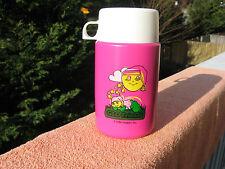 Glo Friends 1986 Hasbro Plastic Thermos Bottle 10 Oz.