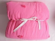 Pottery Barn PB Teen Crinkle Puff twin quilt bright pink