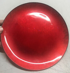 """Ruby Red Glass Gold Base Candle Holder Plate 8"""" Wide"""