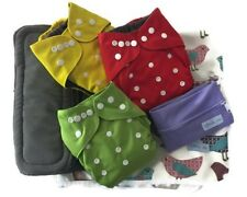 Washable Bamboo Charcoal Reusable Cloth Pocket Diaper W/ Insert N Access. Bundle