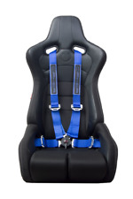 CIPHER AUTO 4-POINT 4PT Camlock Racing Harness PAIR BLUE V2 Dr/Pass SET NEW