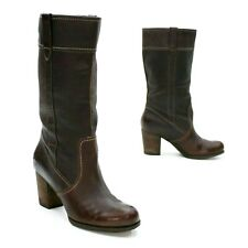 Timberland Ladies 8 (39) Rudston Brown Leather Pull-on Waterproof Mid-calf Boot