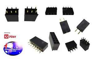 From OZ 2PC 2/4/6/8/10/14 PIN Female Male 2.54 Header Connector PCB Mount Strip