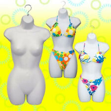 Buy 1 Get 2 Free Plastic Female Mannequin Torso Dress Form #PS-FP119W-3pc