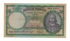 PORTUGAL 20 ESCUDOS 1954 PICK 153 A LOOK SCANS