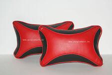Purplekart Designer Car Seat Neck Cushion Pillow - Red and Black Colour - pu