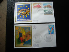 FRANCE - 2 enveloppes 1er jour 1977 (languedoc roussillon-co euro) (cy19) french