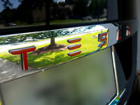 """Tesla Model S Trunk """"TESLA"""" Logo Decal - Available in Various Styles"""