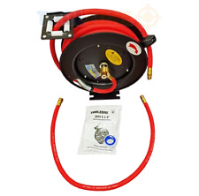 "Retractable Air Hose 30ft x 3/8"" Auto Garage Workshop Auto Rewind Wall Mountable"