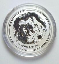 2012 1/2 OZ SILVER AUSTRALIAN PERTH MINT YEAR OF THE DRAGON 50 CENT COIN
