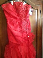 Formal Red Dress Junior Size 9 NWT