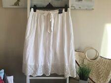 Primark Size 18 Bnwt Vtg Prairie Folk Bohemian White Midi Skirt Lined