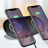 US Qi Wireless Charger Dual Phone Charging Mat Pad For iPhone 11 Pro 8 X XS Max