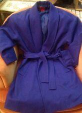 Narciso Rodriguez Small NEW Design Nation Kimono Wrap Cocoon Coat Cobalt Blue