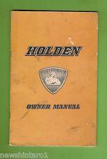 #D160.  1958 FC HOLDEN GLOVEBOX OWNER'S MANUAL