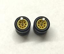Hot wheels 1/64 Set > YELLOW WATANABE 10MM++ RUBBER WHEEL / TIRES / REAL RIDER