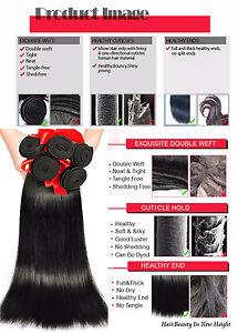 Silky Straight Virgin Indian Brazilian Malaysian Peruvian Human Hair 1or3 Bundle
