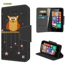 For Nokia 630 635 Wallet Diary Flip Cover Case Twinkle Stars