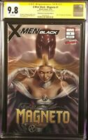 X-MEN BLACK MAGNETO #1 CGC SS 9.8 PARRILLO NYCC VARIANT WOLVERINE EMMA FROST X23