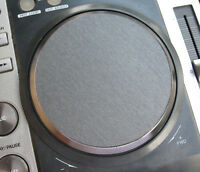 2 x for PIONEER CDJ-200 JOG WHELL Adhesive 3D BRUSHED GRAPHITE GRAY DECALS