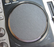 2 x PIONEER CDJ-200 Adhesive 3D BRUSHED GRAPHITE GRAY EFFECT DECALS