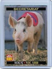 "AWESOME 1992 SI FOR KIDS SECRETARIAT ""RACING PIG"" CARD #679  TRIPLE CROWN LEGEND"