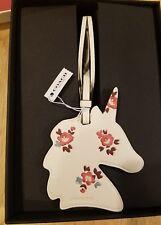 Coach Uni Bag Charm floral NWT Unicorn with box Chalk ornament tag