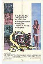 THE SWEET RIDE Movie POSTER 27x40 Anthony Franciosa Michael Sarrazin Jacqueline