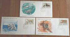 Russia 1977 Set Of 3 Stamp FDC's - WWF Protected Fauna  - MINT