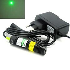 532nm 50mW Green Dot Laser Diode Module 18x75mm Visible Beam Light 5V Adapter