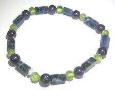 Sodalite peridot amethyst bracelet fashion jewelry gift crystal accessory chakra