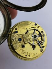 High Quality - Mills, London, Silver Fusee Pocket Watch for Restoration (i6)