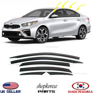 Door Visor Vent Shade Rain Window Guard for Kia Forte Sedan 2019-2020-2021⭐6pcs⭐