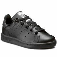 Adidas Originals Infants Stan Smith Black/Black Trainers ba8376 (s+k) RRP £40