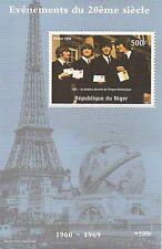1998 The Beatles John Lennon Paul Mccartney Torre Eiffel estampillada sin montar o nunca montada SELLO Sheetlet