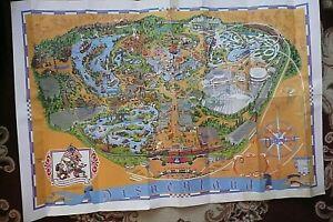 "Original Vintage Disneyland California Large Park Map  1975 - 45""x30"""