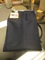 Wrangler USA Mens Navy Blue Wrancher Polyester Pants Dress Jeans 82NV 46x32