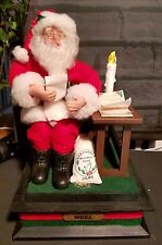Santa Claus Figurine Christmas Musical Light List Holiday Creations