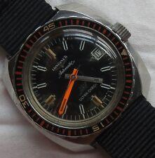 Longines Ultra-Chron Diver automatic mens wristwatch steel case screw cap